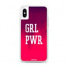 Grl Pwr Berry Pink Neon Sand Glow Case