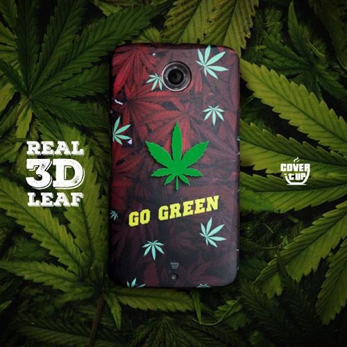 Real 3D Leaf Go Green Design