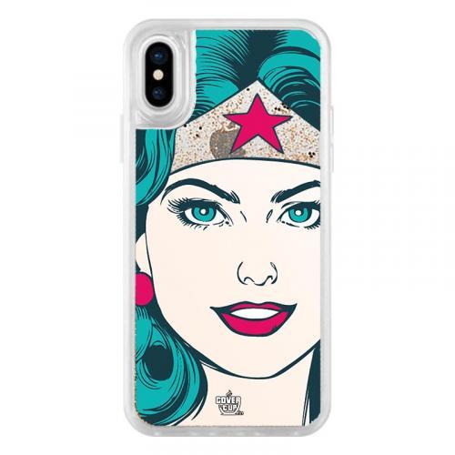 Official Wonder Women Face Glitter Clear Case